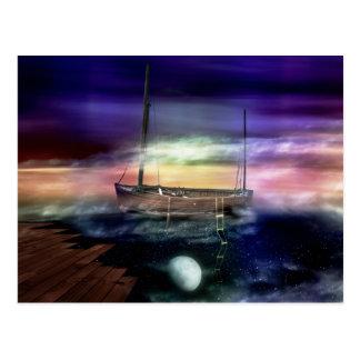 Sailing Through The Night Sky - Postcard