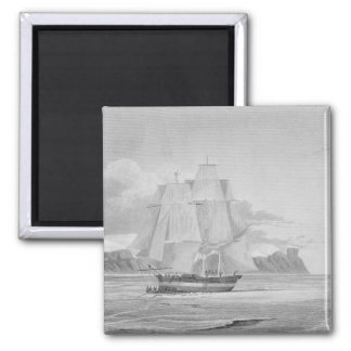 Sailing through young ice September 1824 from J Fridge Magnets