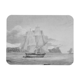 Sailing through young ice, September 1824, from 'J Rectangular Photo Magnet