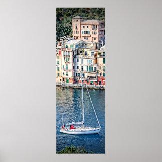 Sailing to Portofino, Italia Poster 36x12