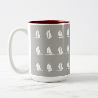 Sailing Two-Tone Coffee Mug