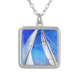 Sailing Unties The Knots Of My Mind pill Silver Plated Necklace