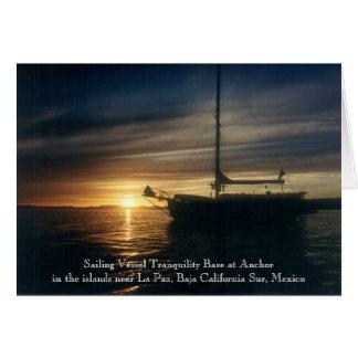 Sailing Vessel Tranquility Base at anchor Card