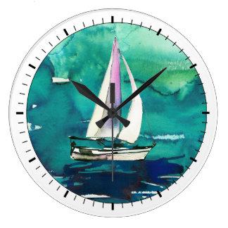 Sailing Vignette Wall Clock