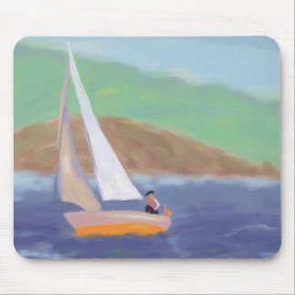 Sailing Wind & Speed Mouse Pad