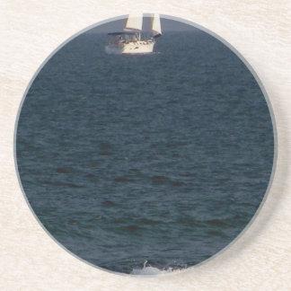 sailing with friends.JPG Beverage Coasters