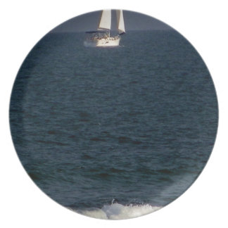 sailing with friends.JPG Dinner Plate