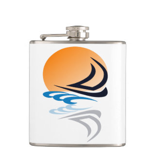 Sailing Yacht in the Sun Flasks