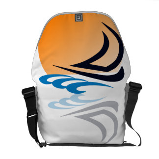 Sailing Yacht in the Sun Messenger Bag