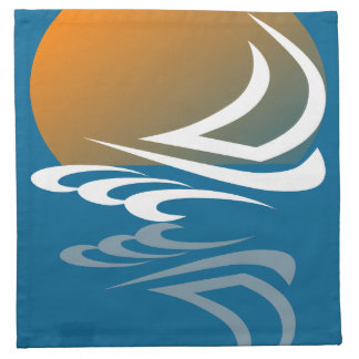 Sailing Yacht in the Sun Napkin