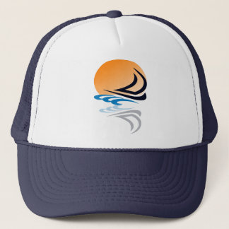 Sailing Yacht in the Sun Trucker Hat