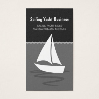 Sailing Yacht Sail Boat Boating Business Cards