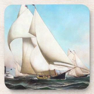 Sailing Yachts Boat Race Ocean Seas Coaster