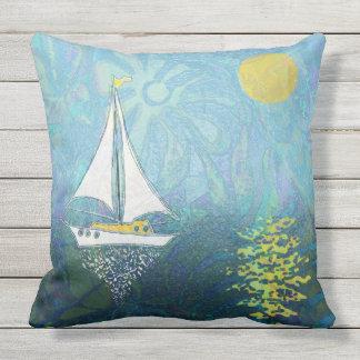 sailingboat throw pillow