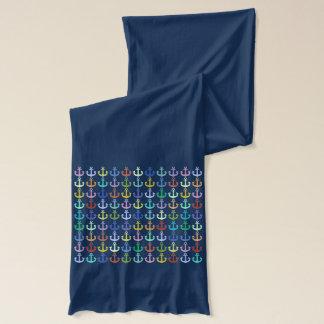 sailor anchors colorful stylish idea scarf