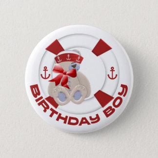 Sailor Bear Birthday Boy 2 Inch Round Button