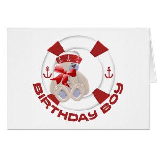 Sailor Bear Birthday Boy Card