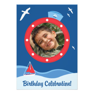 Sailor Birthday Invitations