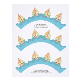 Sailor Boy Cupcake Wrappers Printable Template Customized Letterhead