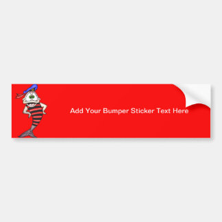 Sailor Fish Bumper Sticker