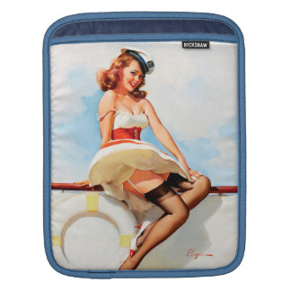 Sailor girl retro pinup iPad sleeve