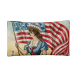 sailor girl - vintage nautical patriotic art makeup bags