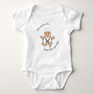 Sailor grandma baby bodysuit