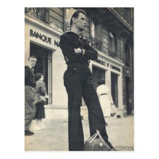 Sailor in Paris Postcard