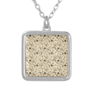 Sailor Jerry Pattern Silver Plated Necklace