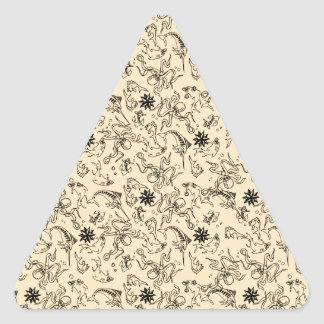 Sailor Jerry Pattern Triangle Sticker