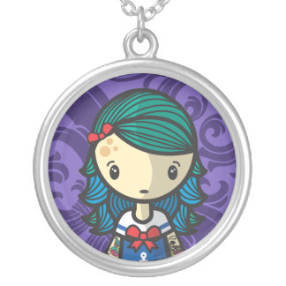 sailor lolita silver plated necklace