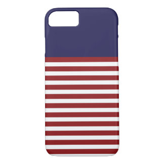 Sailor navy & white and network stripes iPhone 7 iPhone 8/7 Case