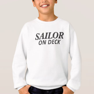 Sailor on Deck Print Sweatshirt