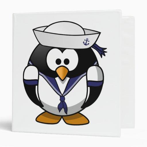 Sailor Penguin Vinyl Binder