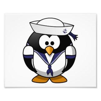 Sailor Penguin Cute Cartoon Photographic Print