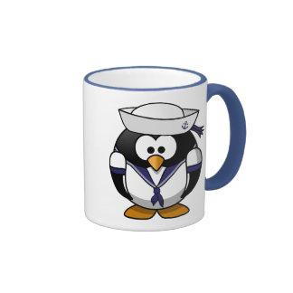 Sailor Penguin Ringer Mug