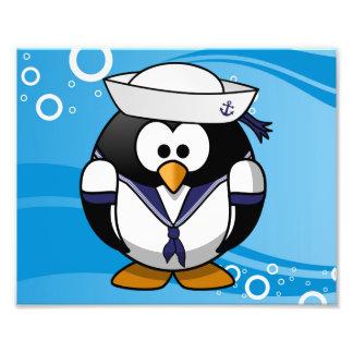 Sailor Penguin Water Background Photo Print