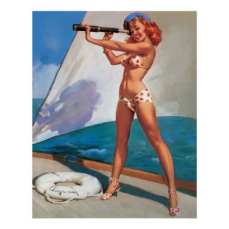 Sailor pin up poster