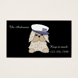Sailor Pup in Captain's Hat Business Card