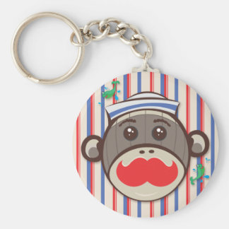 Sailor Sock Monkey Keychain