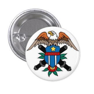 Sailor Tattoo - Eagle & Shield - Button