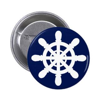 Sailor Wheel button blue