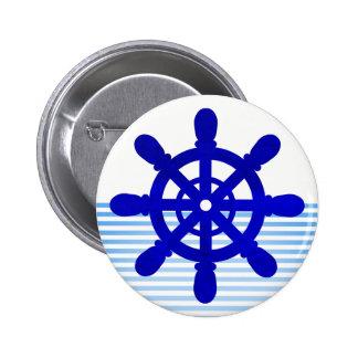 Sailor Wheel button white #2