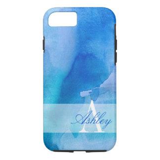 Sailors Blue Watercolor Monogram iPhone 7 Case