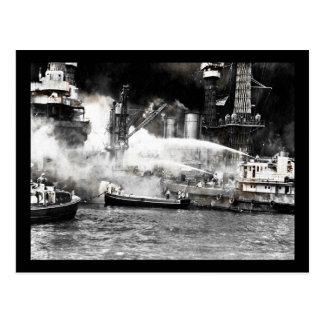 Sailors Fighting Fires on Shipboard Postcard