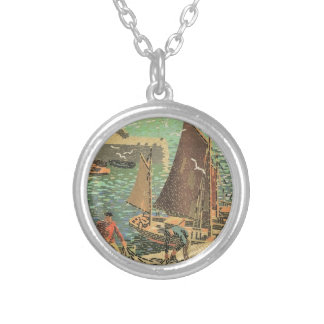 Sailors Tiled Silver Plated Necklace