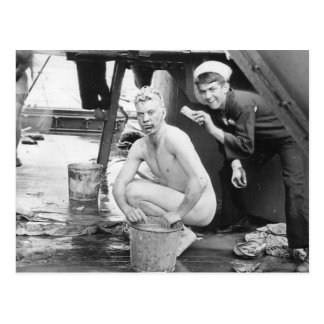 Sailors Washing Up 1913 Postcard