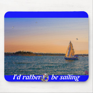 Sails In The Sunset Mouse Pad