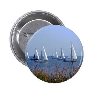 Sails on the Chesapeake 2 Inch Round Button