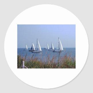 Sails on the Chesapeake Round Sticker